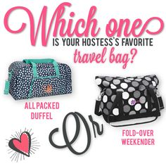 Who knows our hostess best? Thirty-One Spring/Summer Facebook party game. #morethanjustabag All Packed Duffel/Fold-Over Weekender