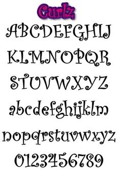Different Font Styles Alphabet | Curlz style graffiti alphabet letters . writing graffiti alphabet A-Z ...