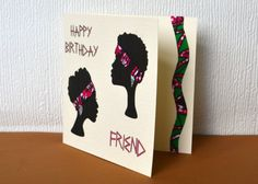 African woman birthday greeting cards African by Colourshotcards