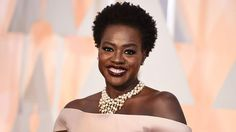 Viola Davis arrives at the Oscars on Sunday, Feb. 22, 2015, at the Dolby Theatre in Los Angeles.