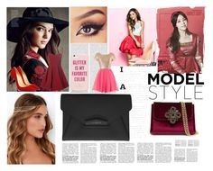 """""""Pink & Red"""" by crymeanocean ❤ liked on Polyvore featuring Sykes, Glamorous, Christian Louboutin, Lulu*s, Kate Spade, Bebe and Givenchy"""