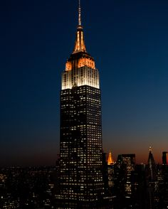 March 6, 2016: To celebrate the 5th anniversary of beloved Broadway hit The Book of Mormon, the Empire State Building shines in orange and white.