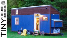This is the Little Lou Tiny House on Wheels in Burlington, Vermont. It's a 200 sq. tiny home built using lots of recycled materials! Related: Young Family's DIY Tiny House Bu… Tiny House 200 Sq Ft, Tiny House Swoon, Best Tiny House, Building A Tiny House, Tiny House Trailer, Micro House, Tiny Houses For Sale, Tiny House Living, Tiny House On Wheels