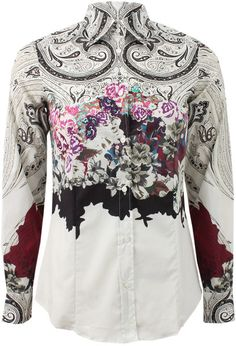 Niceeee.... Love this: Paisley Detail Stretch Blouse @Lyst