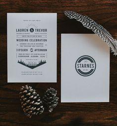 modern type invitation