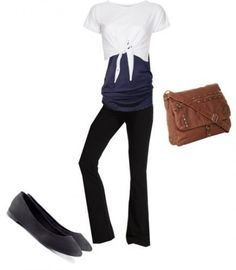 A fashion look from April 2013 featuring cropped shirts, yoga shirts and sweat pants. Browse and shop related looks. Dance Outfits, Girl Outfits, Fashion Outfits, Fashion Shirts, Workout Leggings, Women's Leggings, Workout Pants, Yoga Pants Outfit, Yoga Pants For Work