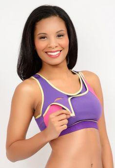 baee47744890a Happy new purple color in La Leche League Sports Nursing Bra at Mommy Gear.  Sizes