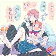 kagukamui/ okikagu pic - Phần 2 - Page 2 - Wattpad Anime Couples Drawings, Cartoon Drawings, Anime Chibi, Anime Art, Maho, Gintama, Anime Rules, Wolf Love, Okikagu