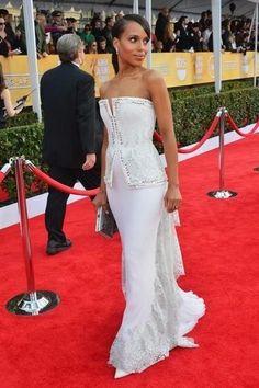 kerri washington, fashion, dresses, red carpets, sag award