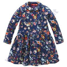 Oilily dress Dayna pigeon blue cord - OILILY winter 2014/2015 - preorder - Modekids