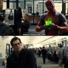 Oh my hahaha Sorry Clark, I'm not laughing. (Wade! bad boy)