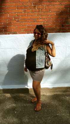 mini skirt and jeans, on my 38th week , it was really hot