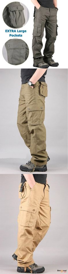 US$39.59 + Free shipping. Mens Outdoor Leisure Cargo Pants Extra Large Pockets Straight Leg Trousers. US Size: 30-44, 4 Colors: Army Green, Army Yellow, Khaki, Black. Material: Cotton Blend  >>> To view further, visit now.