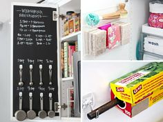 Check out these brilliant kitchen organization hacks to declutter your cabinets and countertops like using a towel rod to hang pot lids, command hooks to...