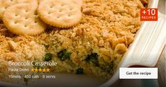 The broccoli casserole recipe by Paula Deen is a hearty side dish loaded with cheesy goodness and …. Available via pauladeen.com.