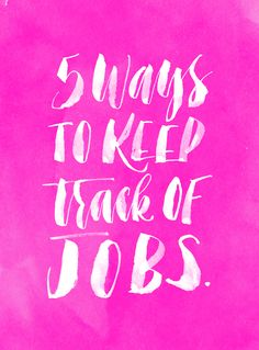 The Freelance Diaries: Keeping Track of Jobs #mollyjacquesworkshop