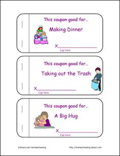 Mother's Day Printable Coupon Book and Activities: Mother's Day Coupon Book - Page 2