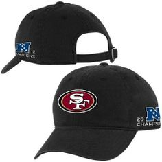 NFL San Francisco 49ers 2012 NFC Champions Youth Slouch Adjustable Hat - Black () by Football Fanatics. $17.95. San Francisco 49ers 2012 NFC Champions Youth Slouch Adjustable Hat - BlackOfficially licensed NFL productQuality embroideryAdjustable slide closure at backOne size fits mostUnstructured fitQuality embroideryUnstructured fitAdjustable slide closure at backOne size fits mostOfficially licensed NFL product