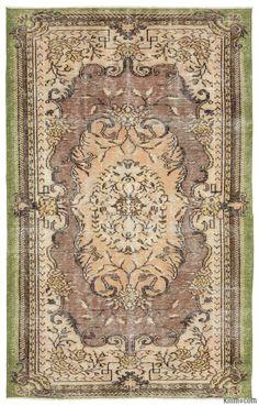 K0014919 Turkish Vintage Rug | Kilim Rugs, Overdyed Vintage Rugs, Hand-made Turkish Rugs, Patchwork Carpets by Kilim.com