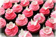 Pink Baby Shower Cupcakes by Cupcations