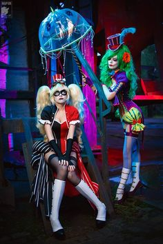 Cosplayer: Lena Litvinova 'aka' Ryoko Demon. From: Russia. Character: Harley Quinn (Burlesque). Malro Doll Is Lady Joker. Photo: Kifir 2015.