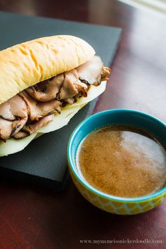 Make the best and easiest French Dip Sandwiches at home that you prepared in the slow cooker!     mynameissnickerdoodle.com