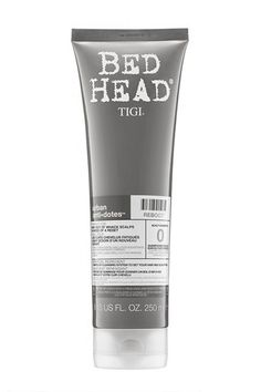 "Bed Head Urban Antidotes Reboot Scalp Shampoo""TIGI hit it out of the park with this shampoo; I personally use it once a week. Living in New York City, our scalp and hair accumulate a lot of dust, pollutants, and oils on a weekly basis. This really helps, as the label says, to reboot your scalp back to its natural balance, without drying out your tresses. It's a must-have during the summer season."" #refinery29 http://www.refinery29.com/cheap-drugstore-hair-products#slide-17"