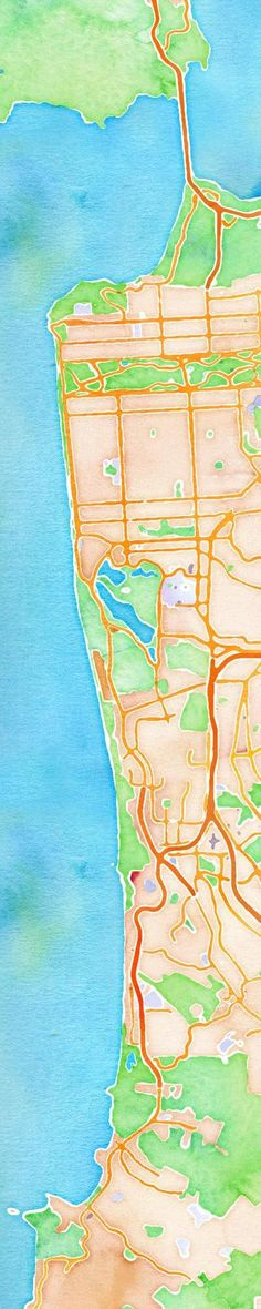 stamen design's watercolor map tiles are just friggin beautiful.