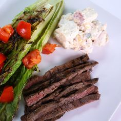 Justine Beringer's Marinated Skirt Steak with Loaded Potato Salad #TheChew