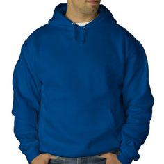 Royal Blue Pullover Hoodie - add embroidery #hoodies #pullover #activewear #winterwear #casualwear #embroidery #camping #hiking #winterwear