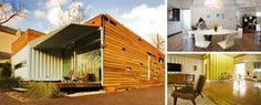 Cordell Container - Two 40-feet long and a container 20 feet long, low maintenance landscaping and passive solar design.