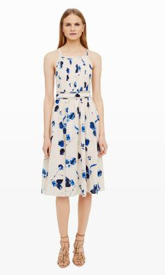 Womens | Klarika Pleated Dress | Club Monaco