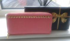 Heart studded zip round purse by ItsPeak on Etsy
