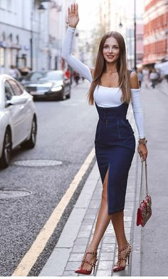 I love this pencil skirt with built in braces  6732c874b301