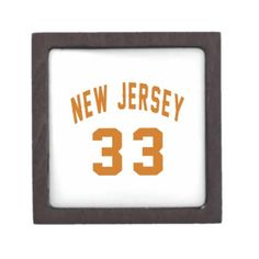 #New Jersey  33 Birthday Designs Gift Box - #giftidea #gift #present #idea #number #33 #thirty-third #thirty #thirtythird #bday #birthday #33rdbirthday #party #anniversary #33rd