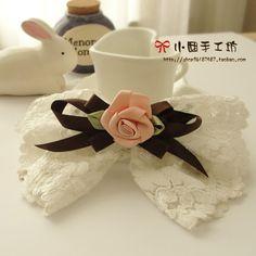 N NG y u j XI o nue manual jiefa decoration rose flower hair clips butterflies Korea lace Ribbon jewelry Korean L0022