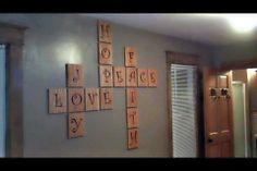 Scrabble Wall Idea #vinyl #decor #family #scrabble