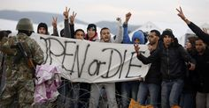 """An image taken at the Macedonian border shows Muslim migrants holding up a banner which reads """"open or die"""" before they proceeded to attack police with stones, according to reports. Slovenske Novice featured the image, explaining that 200 migrants attempted to break through a wire fence during a confrontation with police and border guards. """"Some protesters threw stones at police, while others were screaming """"We want to Germany!"""" And """"Open the borders!"""" states the report. According to…"""