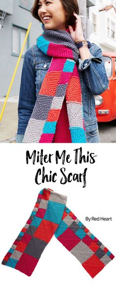 Miter Me This Chic Scarf free knit pattern in Chic Sheep.