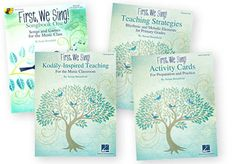 FIRST, WE SING! Complete Set - Teaching for the Music Classroom. A 3-step process (Prepare, Present, Practice) leads to musical literacy. K-5 curriculum mapping, yearly plans, daily lessons, repertoire, overview of Kodaly approach and tools. Teaching Guide. Paperback
