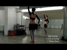 Hip bump + Pivot bump + Choo choo   ATS® video vocabulary - YouTube Tribal Dance, Belly Dance Costumes, Tribal Fusion, Training Tips, Bump, Vocabulary, Dancing, Drills, Youtube