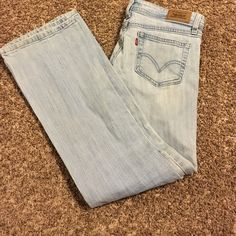 Levis jeans Levis jeans 518 super low boot cut few very light stains size 7 m Levi's Jeans Boot Cut