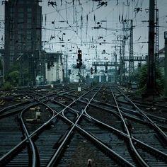Crookshanks / Net (byJulio López Saguar) train tracks, railroad, railroad tracks)