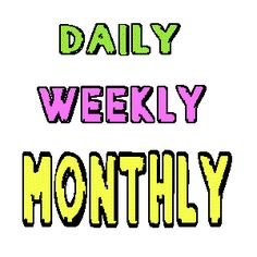 """Lists of """"everyday holidays"""" by month (donut day, bring your child to work day, etc). Also includes awareness months (breast cancer, autism, etc)."""