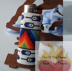 Bead PATTERN Feather Lighter Cover