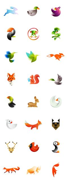 gradient illustration style animal icon