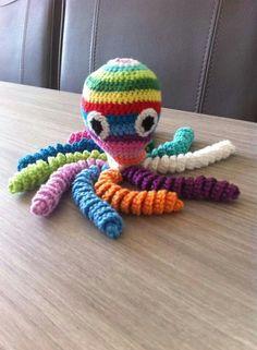 Deze inktvis is gemaakt door Claar Rijkers - v/d Meulenreek.