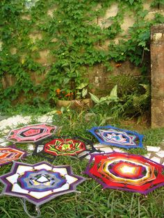 Mandala produção Ariane Brossi, foto no jardim de casa. Ubatuba - Brasil