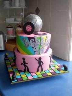 Cakes Cupcakes Mackay by Sugar Siren Dance Birthday Cake, Diva Birthday Cakes, Queens Birthday Cake, Sweet 16 Birthday Cake, 40th Birthday Parties, Disco Theme, Disco Party, 70s Party, Dance Party Kids