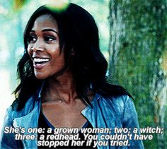 Abbie Mills from Sleepy Hollow. She's often the definition of calm, cool, and collected. She has a wicked sense of humor, but knows when to buckle down. She's tough as nails, but her soft side is not buried too deep. Most importantly, she's a fighter. Bascially, Abbie's awesome.